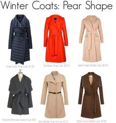 Not afraid of color in a coat. Have a bright pink one now. Wouldn't mind a berry colored or teal. Pear Shape Body, Triangle Body Shape, Pear Body, Pear Shapes, Pear Shaped Outfits, Pear Shaped Dresses, Pear Shaped Girls, Pear Shaped Women, Claire Danes