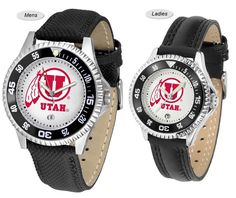 The Competitor Sport Leather Utah Utes Watch is available in your choice of Mens or Ladies styles. Showcases the Utes logo. Free Shipping. Visit SportsFansPlus.com for Details.