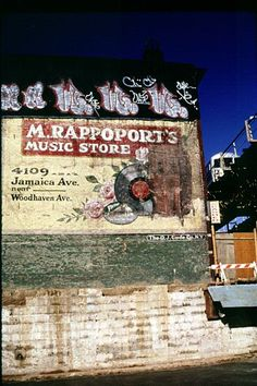 M. Rappoport's Music Store ghost sign, NYC