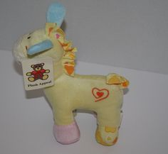 """Plush Appeal baby Horse Pastel yellow blue green plush stuffed animal toy 8"""" New #PlushAppeal"""