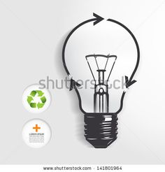 recycle light bulb concept .Vector illustration. / can be used for infographics/ graphic or website layout vector by ponsuwan, via ShutterSt...