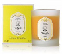 Bougie parfumée Mimosa des Collines Detaille vu dans la presse à retrouver sur Selectionnist.com