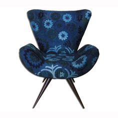Frida Chair Suzani Cobalt now featured on Fab.