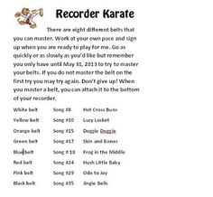 Music in the City: Recorder Karate 2013