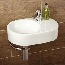 this round sink looks really nice, and it works well with the duravit toilet