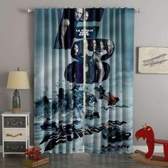 Printed The Fate Of The Furious Style Custom Living Room Curtains – Westbedding Elegant Curtains, White Curtains, Custom Curtains, Blackout Curtains, Panel Curtains, Fate Of The Furious, Have A Good Sleep, Curtain Designs, 3d Printing