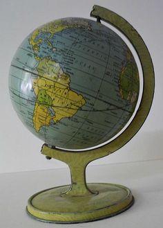 "Untitled [5 1/2"" child's table globe] , Cartographer: Chein, J. & Co. (Published: c1930. Burlington, Nj)"