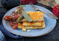 Juusto-perunapannari on helppo herkku - Himahella Cornbread, French Toast, Sandwiches, Tacos, Treats, Breakfast, Ethnic Recipes, Food, Drinks