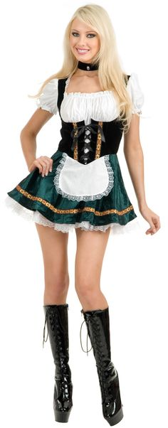 Dazzle in this Sexy Beer Garden Girl Oktoberfest Costume designed to make you look hot! Unique Halloween Costumes, Halloween Fancy Dress, Halloween Inspo, Couple Halloween, Halloween 2018, Funny Halloween, Halloween Stuff, Girl Costumes, Costumes For Women