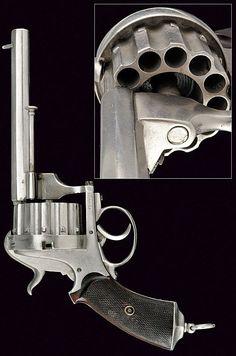 A twelve shot pin-fire revolver   dating: third quarter of the 19th Century   provenance: Belgium