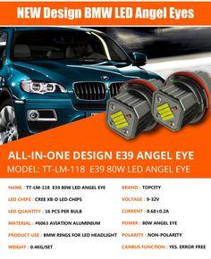CE ROHS E39 LED Headlight Solar LED Marker Light E39 80W LED Angel Eye  Whatsapp: