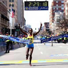 There's no better feeling than crossing the finish line! Congrats Atsede Baysa on winning the #bostonmarathon! : @gettyimages via  @selfmagazine