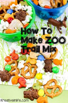 Planning a trip to the zoo? Make ahead this fun snack that your kids will love. Trail mix is a great activity that kids could almost do by themselves. We love a good themed snack snacks, How to Make an Easy Snack For the Zoo Lunch Snacks, Clean Eating Snacks, Lunches, Healthy Camping Snacks, Healthy Preschool Snacks, Camp Snacks, Easy Snacks For Kids, Snacks To Make, Fun Kid Meals