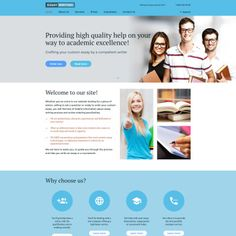Essay Writing Bootstrap Website Template