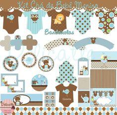 Decoracao Cha Bebe Do bernardo Baby Shower, Baby Tea, Baby Images, Ideas Para Fiestas, Party Kit, Party Printables, Birthday Decorations, Diy Crafts, Cards