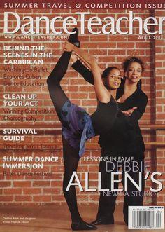 """Fame"" star Debbie Allen with daughter Vivian Nicole Nixon on DT's April 2001 cover, photo by Rose Eichenbaum"