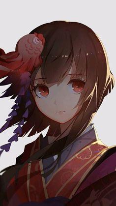 Artist ~ X-red flower Chica Anime Manga, Me Anime, Girls Anime, Fanarts Anime, Kawaii Anime Girl, Anime Art Girl, Manga Girl, Anime Characters, Character Art