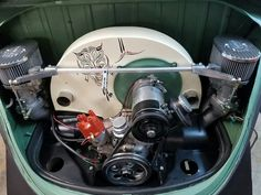 Vw Engine, Car Volkswagen, Pinstriping, Vw Beetles, Cars And Motorcycles, Porsche, Engineering, Vw Bugs, Cool Stuff