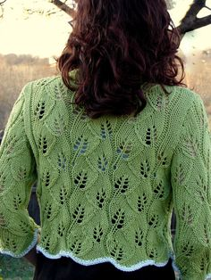Twining Gothic Leaves COTTON BLEND  Hand Knit by EveStarrFiberArts, $89.00