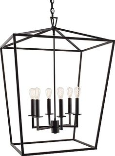 Cage 6-Light Foyer Pendant