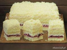 Łabędzi puch - Obżarciuch Polish Desserts, Polish Recipes, Cookie Desserts, Cookie Recipes, Brownie Cake, Homemade Cakes, Four, Vanilla Cake, Baked Goods