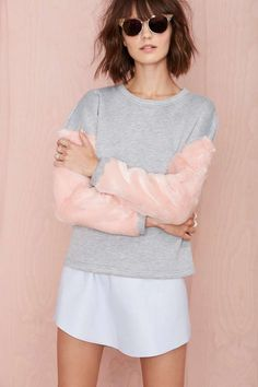 Faux Real Sweatshirt | Shop What's New at Nasty Gal