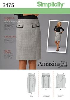 Amazing Fit Pencil Skirt pattern.