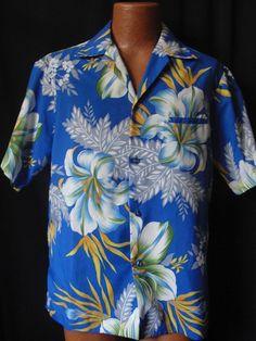 Vintage Royal Palm Hawaii Hawaiian Shirt M Medium Blue Welt Pocket Vintage Hawaiian Shirts, Camp Shirts, Welt Pocket, Vintage 70s, Palm, Men Casual, Shirt Dress, Unisex, Wicked