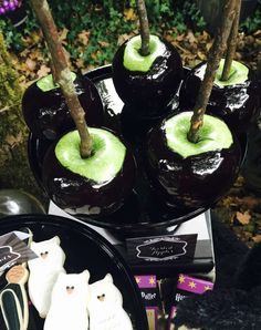 Candy apples at a Harry Potter birthday party! See more party ideas at CatchMyParty.com!