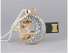 8G Moon and Star USB Flash Drive (Golden)$18.99