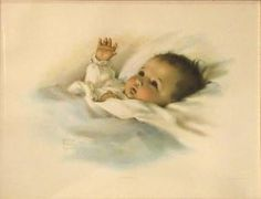 Bessie Collins Pease Gutmann - Awakening; Song Of The Lark. My grandmother had a copy of this picture hanging above the crib that all of her grandchildren slept in when they each visited her house.