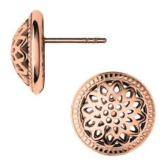 Timeless 18kt Rose Gold Vermeil Domed Stud Earrings ($160) ❤ liked on Polyvore featuring jewelry, earrings, stud earrings, vermeil jewelry, gold vermeil jewelry, rose jewelry and rose jewellery