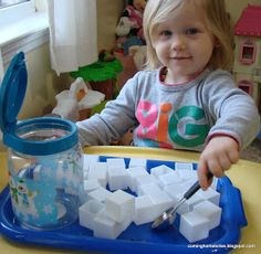 a list of winter-themed toddler activities (sensory, sorting, etc)