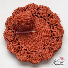 Crochet sunflower doily / Lace / Yellow with black or brown / inches cm), Crochet Mat, Crochet Motifs, Crochet Home, Crochet Shawl, Crochet Crafts, Crochet Doilies, Crochet Flowers, Crochet Projects, Crochet Stitch