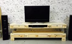 Coolest DIY Wood Pallet TV Console Ideas for Your Project A TV console is such a must-have furniture that every living room should have. It provides the better spot to put your flat TV and other living room stuff.