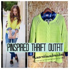 Pinspired Thrift Outfit with Amy of @twiceliving