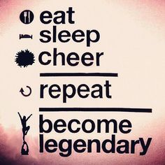 cheer quotes; eat sleep cheer repeat