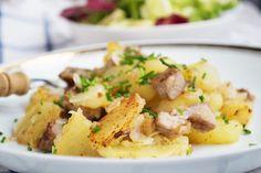Das Rezept vom #Gröstl ist ideal zur Verwertung von Fleischresten, wie gekochten Rind-, oder Schweinefleisch und Geselchtem.
