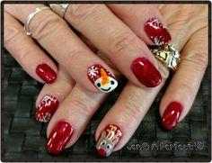 Fun accent Christmas nail art