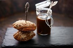Date and Earl Grey Tea Madeleines with Muscavado Dip