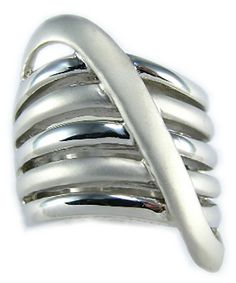 11 MIMI Sterling Silver Large 34 MM Modern Style Zigzag Wave Ring Size 5 7 6 9 10 8