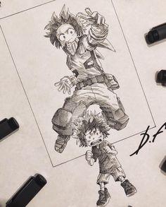 Anime Art by Incredible Anime Artists: Welcome to Anime Ignite Anime Drawings Sketches, Anime Sketch, Manga Drawing, Manga Art, Cool Drawings, Anime Art, My Hero Academia Episodes, Hero Academia Characters, My Hero Academia Manga
