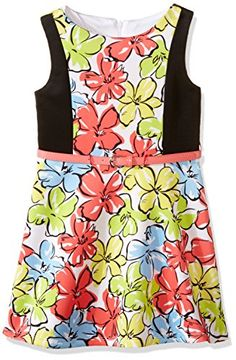 Marmellata Girls Big Girls Belted Floral Knit Dress Multi 10 ** Learn more by visiting the image link.