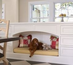 This space can be easily created with many of the cabinetry lines AK uses, and can be tailor made to the size and weight of your pets! It s fabulous, isn't it? http://www.akatlanta.com/Atlanta-Kitchen-Renovations-By-AK