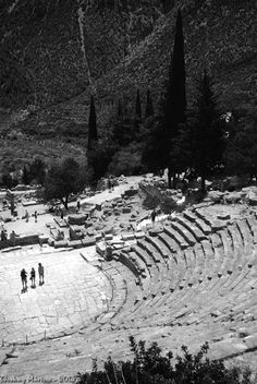 The ancient theatre of Delphi, was originally built in the 4th century BC but was remodeled on several occasions since
