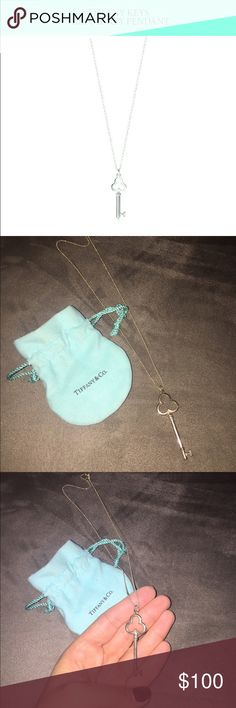 TIffany's Treefoil Key Pendant Worn only once! Simply elegant and masterfully crafted, this classic pendant is appropriate for both day and evening. Includes chain and bag. Tiffany & Co. Jewelry Necklaces