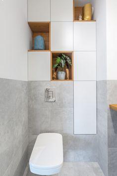 Galeria - Wykończenia wnętrz pod klucz Pomysłownia Small Toilet Design, Small Toilet Room, Bathroom Design Small, Bathroom Interior Design, Bathroom Design Inspiration, Living Room Goals, Powder Room, House Design, Decoration