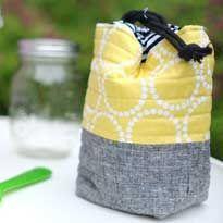 Insulated Mason Jar Bag– Free Tutorial