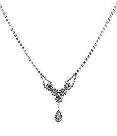 Cezanne Teardrop Frontal Necklace #Dillards