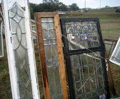 Salvaged Leaded Glass Windows - via 52 FLEA: What I Saw At Renninger's Mt. Dora